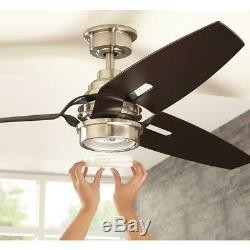 Home Decorators Iron Crest 60 LED DC Motor Brushed Nickel Ceiling Fan withRemote