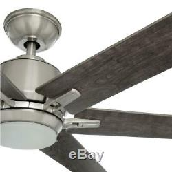 Home Decorators Kensgrove 64 Brushed Nickel Ceiling Fan with LED Light and Remote