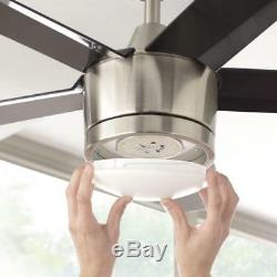 Home Decorators LED Ceiling Fan 52 Brushed Nickel with Light Kit and Remote