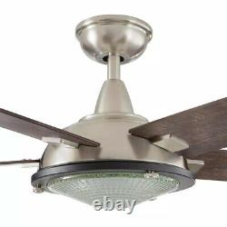 Home Decorators Merienda 56 in. LED Brushed Nickel Ceiling Fan with Light