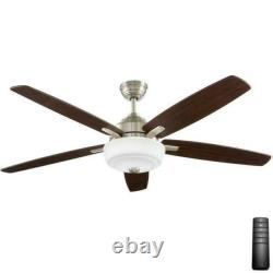 Home Decorators Sudler Ridge 60 LED Indoor Brushed Nickel Ceiling Fan with Remote