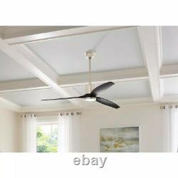 Home Decorators Triplex 60 in. LED Brushed Nickel Ceiling Fan with Remote Control