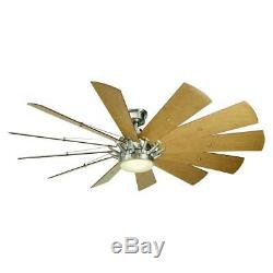Home Decorators Trudeau 60 in. LED Indoor Brushed Nickel Ceiling Fan