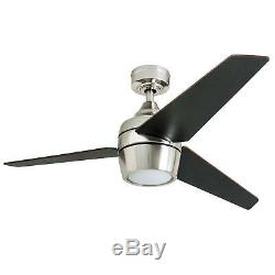 Honeywell Eamon 52' Modern Brushed Nickel Remote Control Ceiling Fan With LED 3