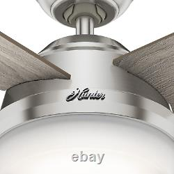 Hunter 52 Remote Control Ceiling Fan Dempsey Brushed Nickel 50284