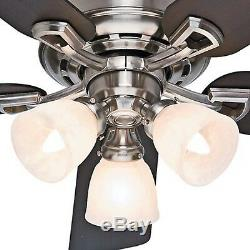 Hunter 52 in Ceiling Fan, Brushed Nickel Light Kit and Remote Control Included