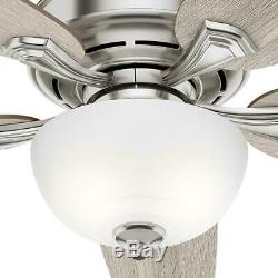 Hunter 54 LED Indoor Ceiling Fan Easy Install Remote Control Snap On Blades