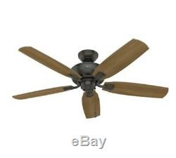 Hunter Amberlin LED 52 Noble Bronze Indoor Ceiling Fan W Downrod BRAND NEW