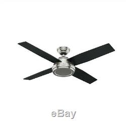 Hunter Fan 52 in. Contemporary Ceiling Fan with Remote Control in Brushed Nickel
