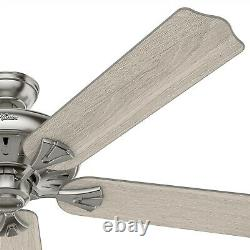 Hunter Fan 60 inch Casual Brushed Nickel Indoor Ceiling Fan with Remote Control