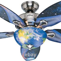 Hunter Fan Company 52298 Space Discovery 48 Ceiling Fan withLight, Brushed Nickel
