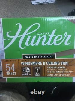 Hunter Windemere II 54 Brushed Nickel Ceiling Fan withRemote Control & Light Kit