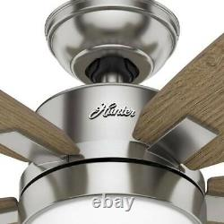 Hunter Windemere II LED 54-in Brushed Nickel Indoor Ceiling Fan with Remote
