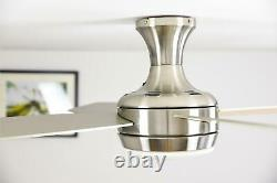 Indoor ceiling fan with light and remote aireRyder Saturn Nickel Pine 132cm 52
