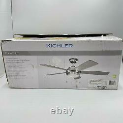 KICHLER 330174NI 5-Blades 52 Ceiling Fan with Light, Brushed Nickel
