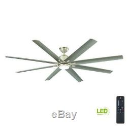 Kensgrove 72 In. Integrated LED Brushed Nickel Ceiling Fan with Remote Control