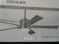 Kichler 330000NI Lucian 52 Inch 5 Blade Indoor Ceiling Fan with LED Light Kit