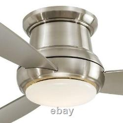 MINKA AIRE CONCEPT II LED FLUSH MOUNT CEILING FAN 52 INCH F519L-BN @ New In Box