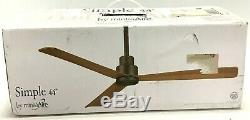 Minka Aire Ceiling Fan Simple 44 Indoor/Outdoor Remote Control F786-BNW