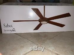 Minka Aire F745-BN Sabot Brushed Nickel 52 Ceiling Fan with Remote Control