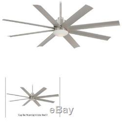 Minka Aire F888-BNW Slipstream Brushed Nickel Wet 65 Ceiling Fan withRemote & Lig