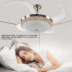 Modern Remote Control Brushed Nickel Ceiling Fan with 3-Color Changing Lights