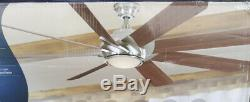 NEW HARBOR BREEZE HYDRA 70 Brushed Nickel Indoor Ceiling Fan, LED Light, Remote