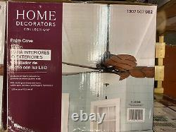 NEW HOME DECOR Palm Cove 52 in. LED Indoor/Outdoor Natural Iron Ceiling Fan