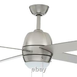 Northport 52 in. Indoor Brushed Nickel Ceiling Fan with Light Kit by Hampton Bay