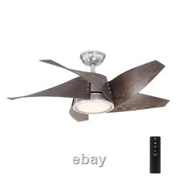 Outdoor 42 Small Ceiling Fan + Remote Unique Modern Star Windmill Patio Light
