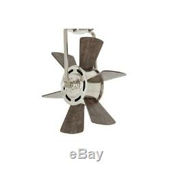 Outdoor Ceiling Fan 20 in. Brushed Nickel Remote Control Windmill Type