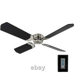 RV Ceiling Fan 12V 42 Brushed Nickel Finish 4 Blade with Remote