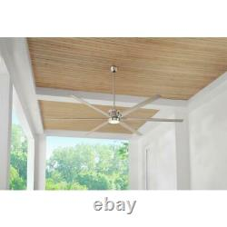 Royalty 120 in. LED Indoor/Outdoor Brushed Nickel Ceiling Fan with Light / Remote