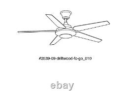 Signature Plus II 54 in LED Indoor Brushed Nickel Ceiling Fan Light Kit & Remote
