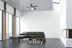 Small ceiling fan with light and pull chains MARVA brushed nickel 76 cm 30