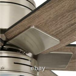 Statewood 70 in. LED Brushed Nickel Ceiling Fan with Light Kit & Remote by HDC