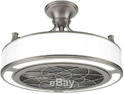 Stile Anderson 22 in. LED Indoor/Outdoor Brushed Nickel Ceiling Fan with Remote