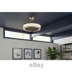 Stile Anderson Ceiling Fan Light Dimmable LED Indoor Outdoor Brushed Nickel