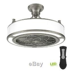 Stile Anderson Indoor/Outdoor Brushed Nickel Ceiling Fan with LED Light & Remote