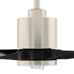 Triplex 60 In. Led Brushed Nickel Ceiling Fan With Light And Remote Control