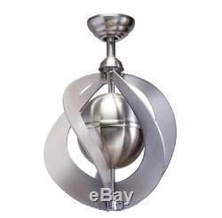Unique 16 Small Ceiling Fan Elegant Orb Wrap Cage Brushed Nickel Office Loft