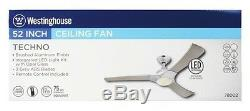 Westinghouse 7800200 Techno 52-Inch Three-Blade Indoor LED Ceiling Fan