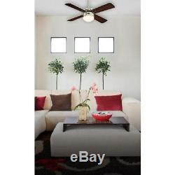 Westinghouse ceiling fan Colosseum brushed nickel with LED and remote control