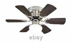 Westinghouse ceiling fan light Petite brushed nickel with pull cord 76 cm / 30