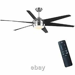 Windward 68 in. Color Changing LED Indoor/Outdoor Brushed Nickel Ceiling Fan